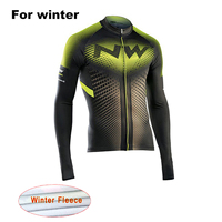 2017 NW New Winter Warm Long Sleeve Bicycle Jersey Thermal Fleece Ropa Ciclismo Maillot Men S
