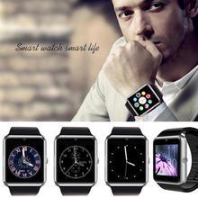 Smartwatch gt08 bluetooth smart watch sport tragbare geräte sim tf karte für iphone samsung sony huawei xiaomi lg ios android