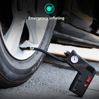 Portable 12V Car Auto Electric Air Compressor Tire Inflator Pump Rescue lamp for Benz w203 w204 w205 w210 w211 w213 Accessories