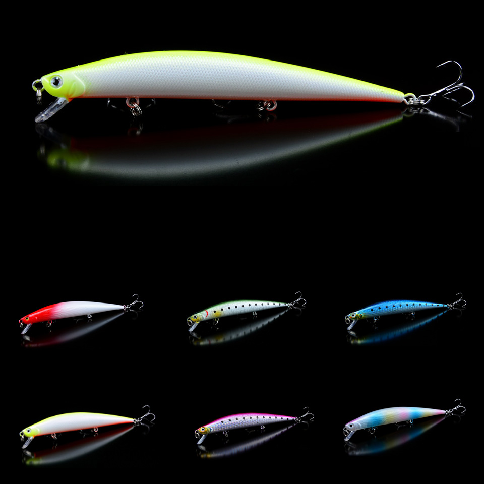 1pcs Lifelike Minnow Fishing  Lures 6 colors Available Hard Baits 12.5cm/12.4g Bass Crankbaits Wobblers Fishing Tackle Wholesale kingdom fishing lures floating minnow 90mm 9g fishing tackle wobblers six color available model 5339