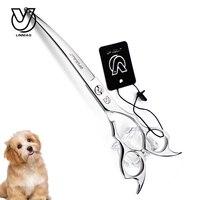 7inch Silver Curved Scissor Professional Shear Dog Pet Grooming Scissor Animal Haircut Honden Trim Scharen