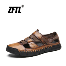 ZFTL New Men Mesh shoes Handmade Male beach non-slip leisure sandals Man casual summer Soft sole large size  65