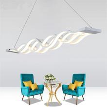 Minimalist Pendant Lights Lamparas de Techo Colgante Moderna Aluminium Wave Hanging Lamps Dimmable Lamparas Luminaire Suspendu