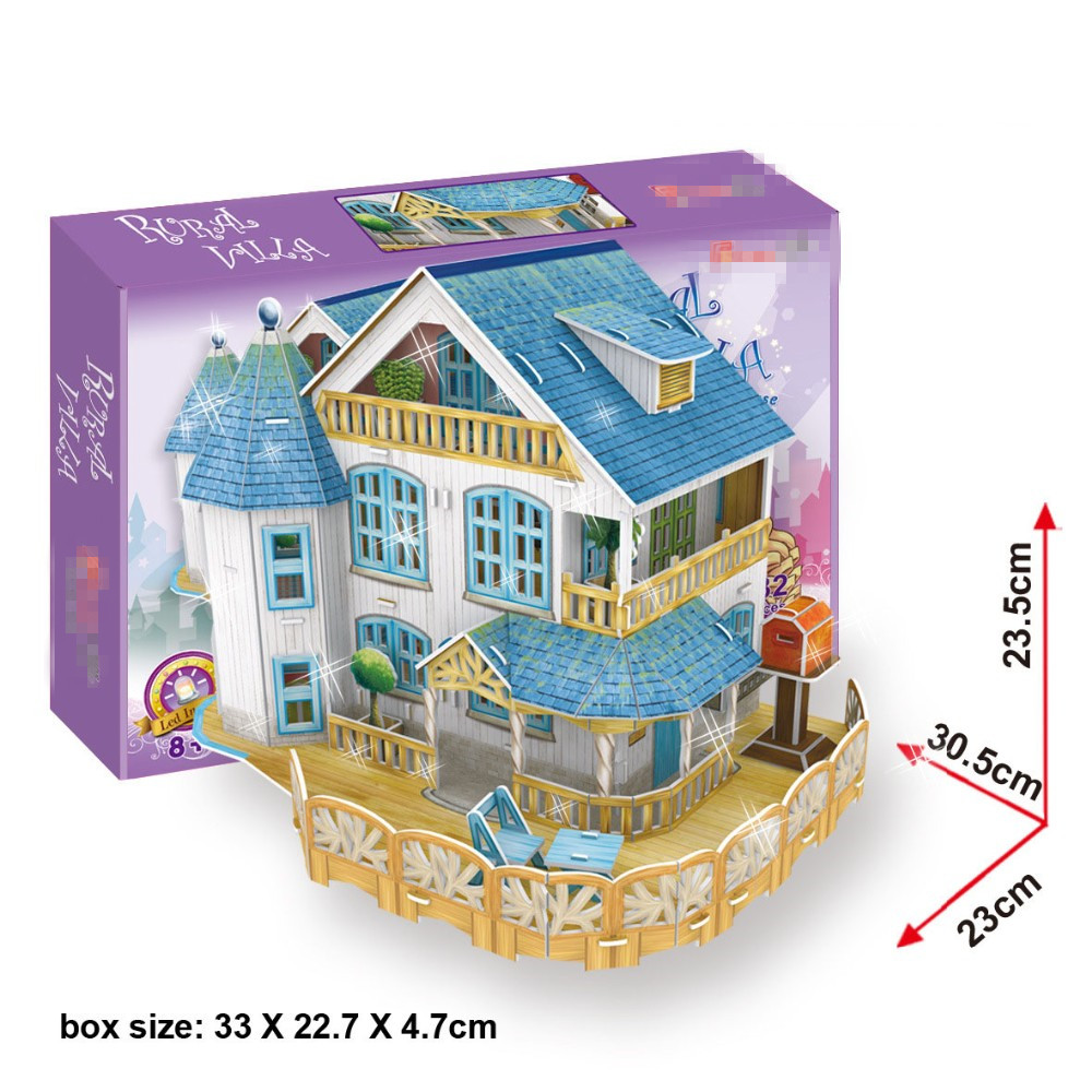 compare prices on house building designs online shopping buy low building blocks vacation home rural villa light house 3d stereo model boy girls diy creative blocks