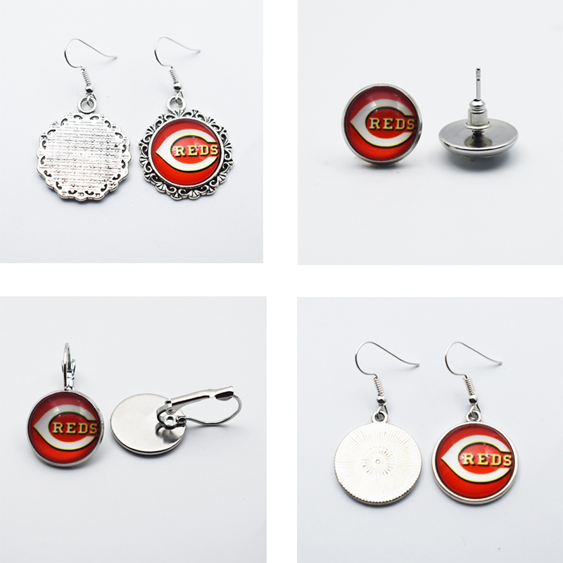 NEW Sports Cincinnati Reds Jewelry Earings 3Style 12MM/16MM/18MM Baseball Fans Stud Earrings/Pendant Earrings