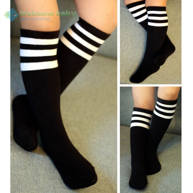 87ad27a23 Toddlers Children s Kids Baby Girl Knee High Socks School Cotton Tights  Striped Stockings legs for Girls Boys brand new 3-10Y