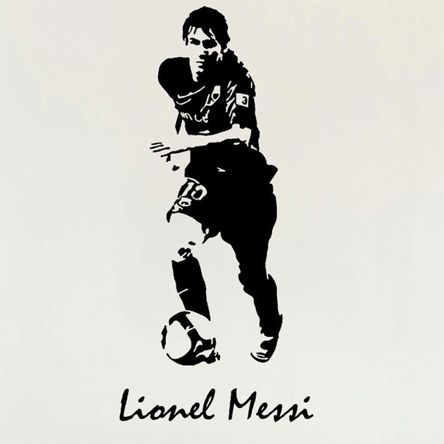 Lionel messi barcelona football sport wall art mural vinyl wall sticker soccer poster brand boys room