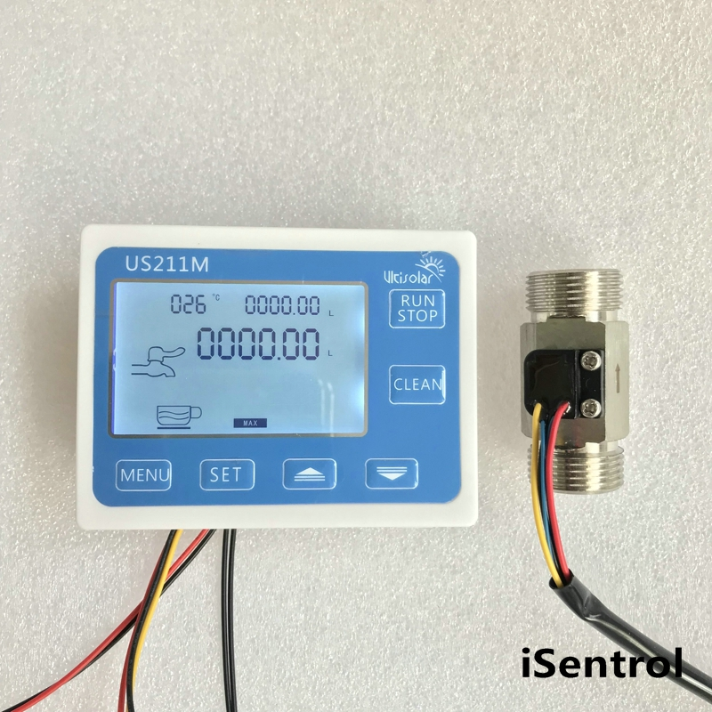 US211M Display with USS HS43TBT SS 304 Flow Meter Totalizer Flow Measurement 2 45L min Range