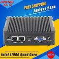 Fanless mini pc windows intel nuc hystou j1900 quad core 2 lan mini computador htpc tv box j1900 nano itx industrial pc Barebone