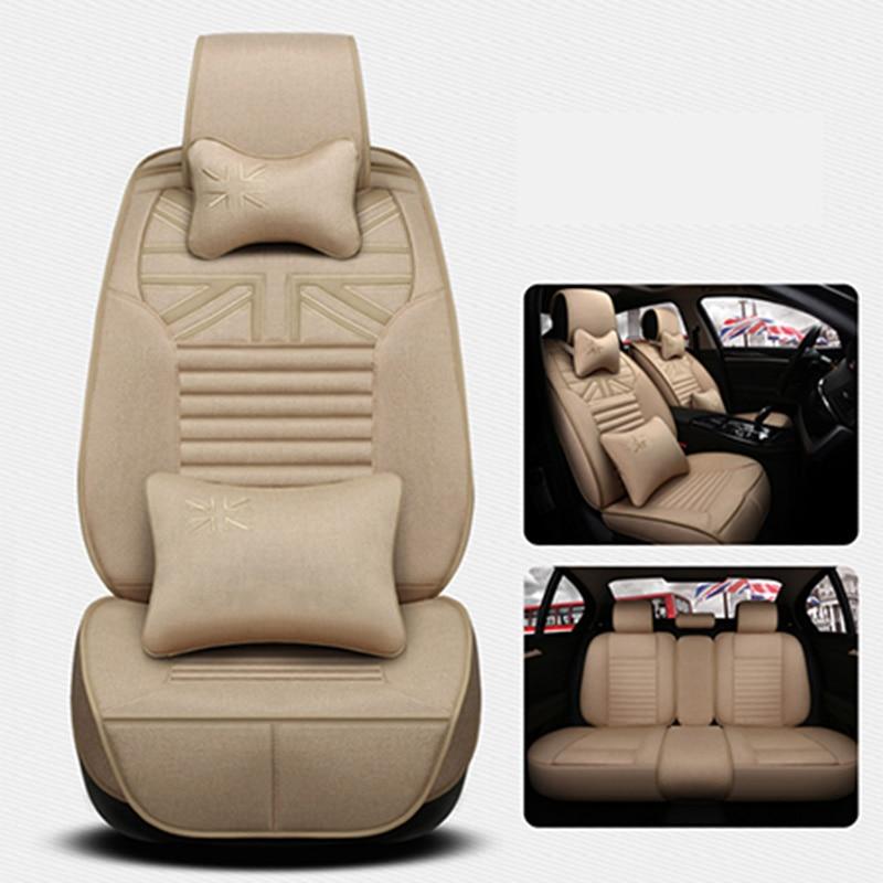 Front+back Flax Universal Car Seat Cover for Suzuki Jimny Grand Vitara Kizashi Swift SX4 Wagon R Palette Stingray car accessor