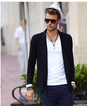 1760603792e Cardigan Men Fashion Long Sleeve Casual Slim Cardigans Black Color Plus Size  Short Pull Style Business Cardigans 5XL 4XL-in Sweaters from Men s Clothing    ...