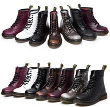 นิวอิงแลนด์สไตล์Dr 100%หนังแท้มาร์ตินมาร์ตินรองเท้ารองเท้าชายและหญิงยี่ห้อDrออกแบบรองเท้ารถจักรยานยนต์ขนาด35-44