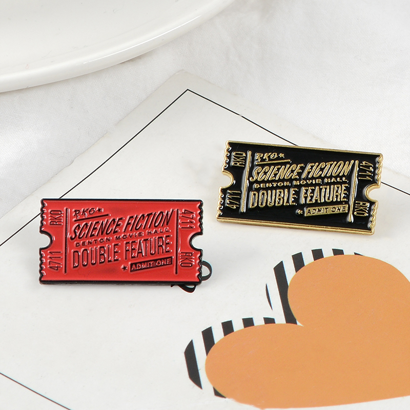 Rocky Horror Pin Movie Ticket Enamel Pin Rocky Horror Picture Show Brooch Lapel Pins Badge Film Movie Jewelry Gift for women men signage