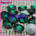 100pcs/lot Emerald COLOR 8MM 10MM 12MM  14mm 16mm 18mm 20mm  Chinese Top Quality 1122 Round Fancy Stone Crystal Rivoli imitation