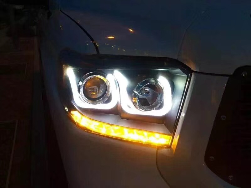 eOsuns led headlight assembly with daytime running lights turn signal for Toyota sequoia tundra 2007-14, tundra 2013-17