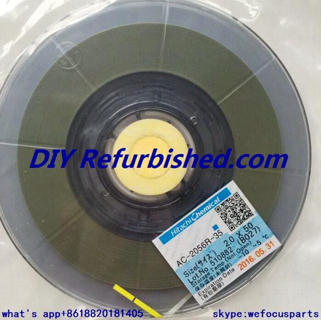 Para Hitachi AC-7206U-18 de ACF y AC-2056R-35 de Tira Conductora Anisotrópica Película de la Conducción para Teléfono FPC Flex, Lcd Flex Piezas Fix