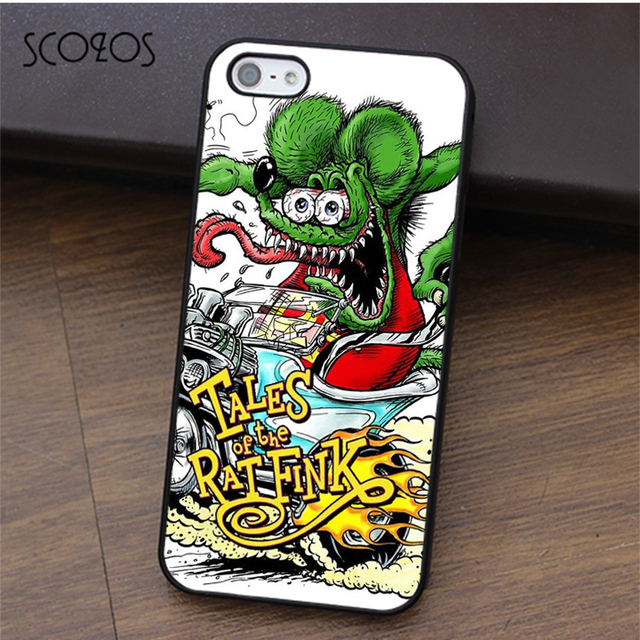huge discount bc471 af406 US $4.99 |SCOZOS Rat Fink Hotrod Big Daddy fashion phone case cover for  iphone X 4 4s 5 5s Se 5C 6 6s 7 8 6&6s plus 7 plus 8 plus #ca357-in Fitted  ...