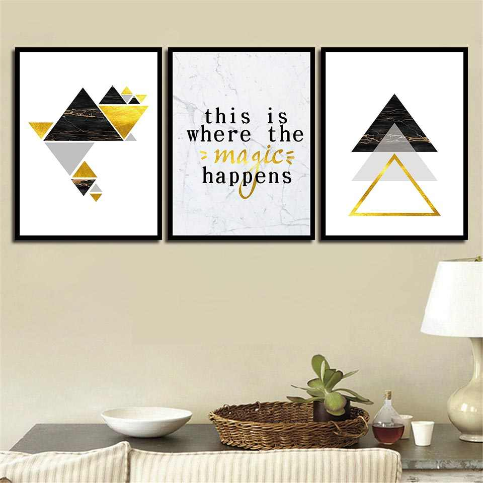 Printing Minimalism Style Pictures Living Room Kitchen Wall Decor Geometric Letters Canvas Paintings Art Nordic Fashion Posters
