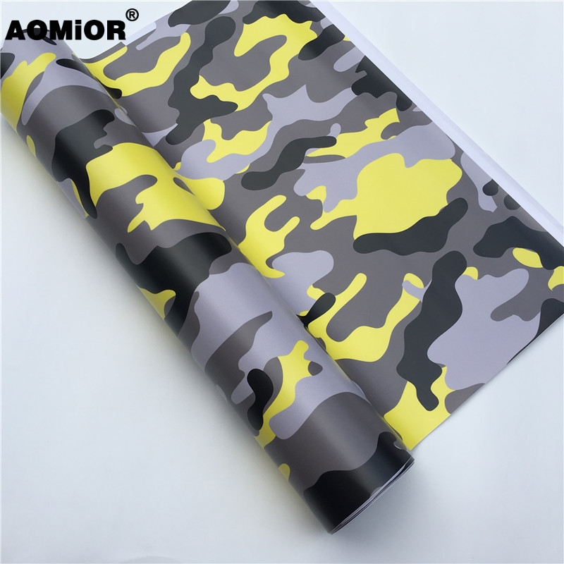 Yellow camo vinyl wrap (11)
