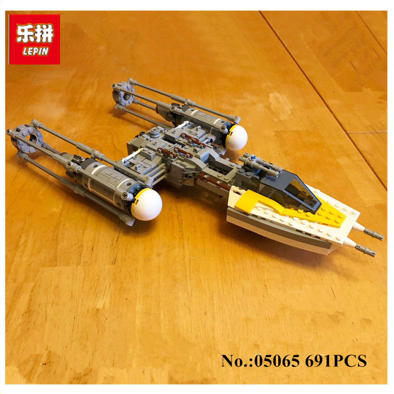 IN-STOCK Lepin 05065 691Pcs Genuine The Y-wing Starfighter Set Building Blocks Bricks Educational Toys 75172 in stock lepin 23015 485pcs science and technology education toys educational building blocks set classic pegasus toys gifts