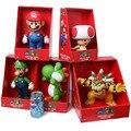 Super Mario Mario + Luigi + Yoshi + Sapo + Bowser Acción PVC Figure Collection Modelo Juguetes