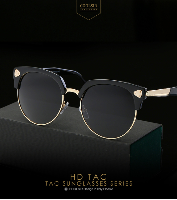 a363fca8f9 2017 Italy Famous Hipster Brand Designer Polarized Women Sunglasses Big Round  Lens Semi-Rimless Frame Women Sun Glasses 9930