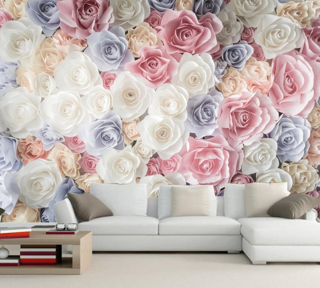 Bedroom Wallpaper Divisoria Bedroom Sitting Room Design Ideas Accent Wall Ideas For Small Bedroom Spiderman Bedroom Accessories: Many Texture Rose Flower Wallpaper 3d Wall Mural,living