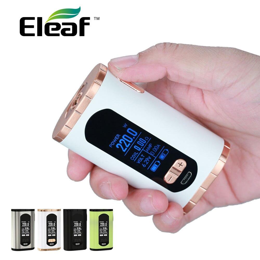 Original Eleaf Invoke 220 watt TC Box MOD mit 1,3-zoll display 220 watt Max Ausgang Angetrieben durch Dual 18650 batterie Box Mod vs iKonn 220