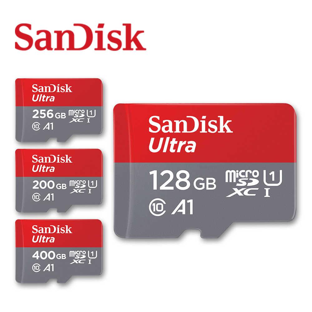 SanDisk A1 Kartu Memori 400GB 256GB 200GB 128GB 64GB 98 MB/s 32GB Micro Sd kartu Class10 UHS-1 Flash Kartu Memori MicroSD TF/Kartu SD