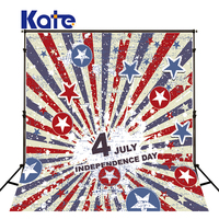150Cmx200Cm(5Ftx6.5Ft) Kate Photographic Background Cotton American Flag Independence Day Retro Photography Background Dlr 5
