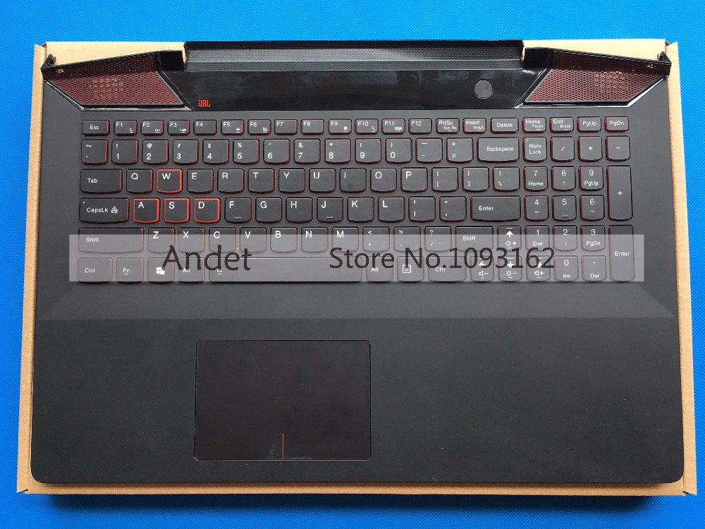 New Original Palmrest For Lenovo Y700-15 Y700-15ISK Y700-15ACZ Keyboard with Backlit Bezel Upper Cover new original keyboard bezel palmrest cover for lenovo thinkpad t440s uma with nfc with touchpad fingerprint reader 04x3880