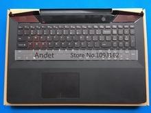 Neue Original Handauflage Für Lenovo Y700-15 Y700-15ISK Y700-15ACZ Tastatur mit Hintergrundbeleuchtung Lünette Obere Abdeckung