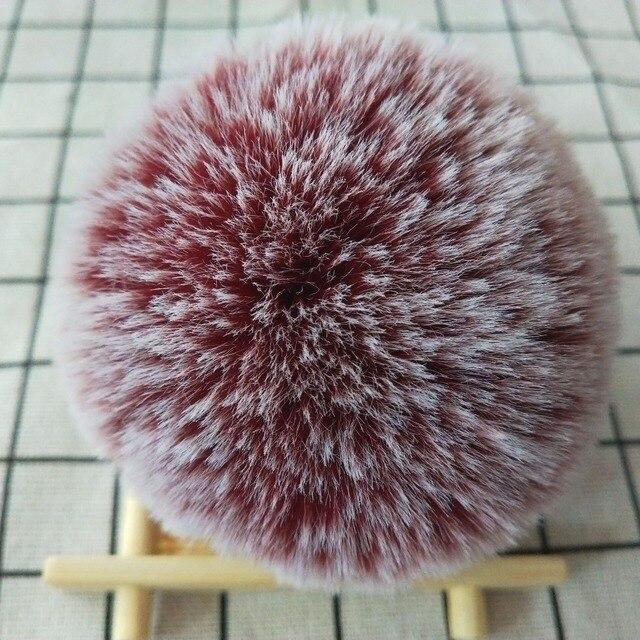 8 cm Falsa Pele De Coelho Bola Pompom Fofo Linda Corrente Chave Keychain Anel Chave Bonito Pom Pom Porte Clef Para mulheres Charme Saco de Brinquedos