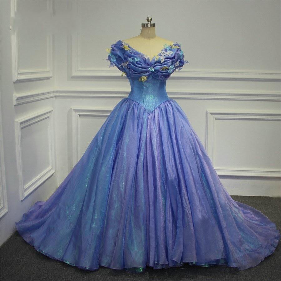 Cinderella Cosplay Dress Princess Vintage Ball Gown Wedding Dress 2016 Real Photo Plus Size