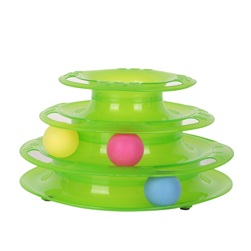 Funny Cat Toys Intelligence Triple Play Disc Cat Toy Balls Ball Toys Pets