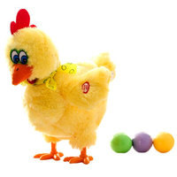 1pcs 30cm Funny Doll Raw Chicken Hens Will Lay Eggs Of Chickens Crazy Singing And Dancing