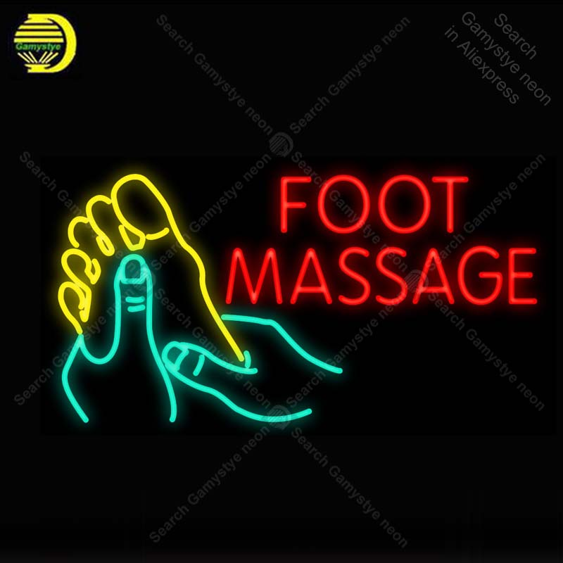 Lights & Lighting Neon Sign For Foot Massage Neon Light Neon Bulb Sign Beer Display Club Business Handcraft Glass Tube Light Decor Lamps For Sale Light Bulbs