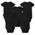 Nuevo unisex lugar baby girl boy clothing newborn baby body negro 100% de algodón suave 0-12 meses de manga corta ropa de bebé