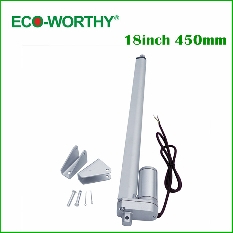 450mm/18inch Stroke Heavy duty DC 12V 1500N/330lbs Load Linear Actuator multi-function 18 Electric Motor 10inch 250mm stroke 12v dc electric linear actuator 4 27mm s 150kg load 12 36v dc 1500n heavy duty tubular electric motor 24v