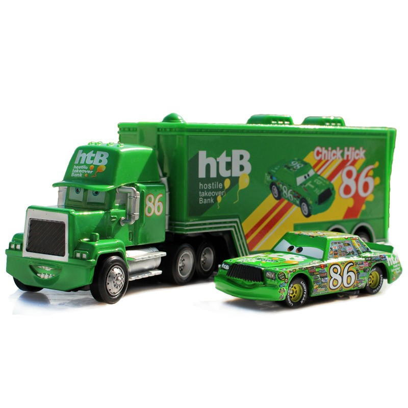 hot-sale-2pcs-cartoon-model-Truck-car-Toys-for-children-Mack-1-55-Diecast-Metal-Loose (2)