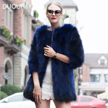 DUOUPA New Type Natural Real Raccoon Dog Fur Coat Women Commuting-Leisure Short Coats Winter Ladies