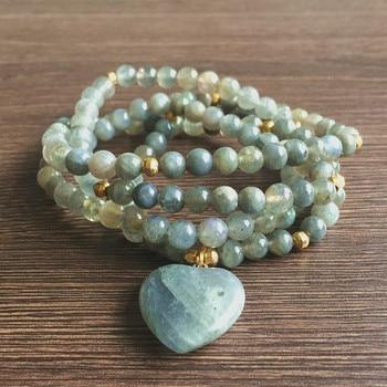 Bracelet Labradorite Coeur