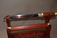 Grade A Handmade Japanese Tanto Sword Red Folded Steel Red wood Scabbard very sharp