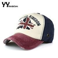 High Quality Summer Autumn Casual Cotton Rivet Star UK Flag Hat Printed Snapback Baseball Caps Hip