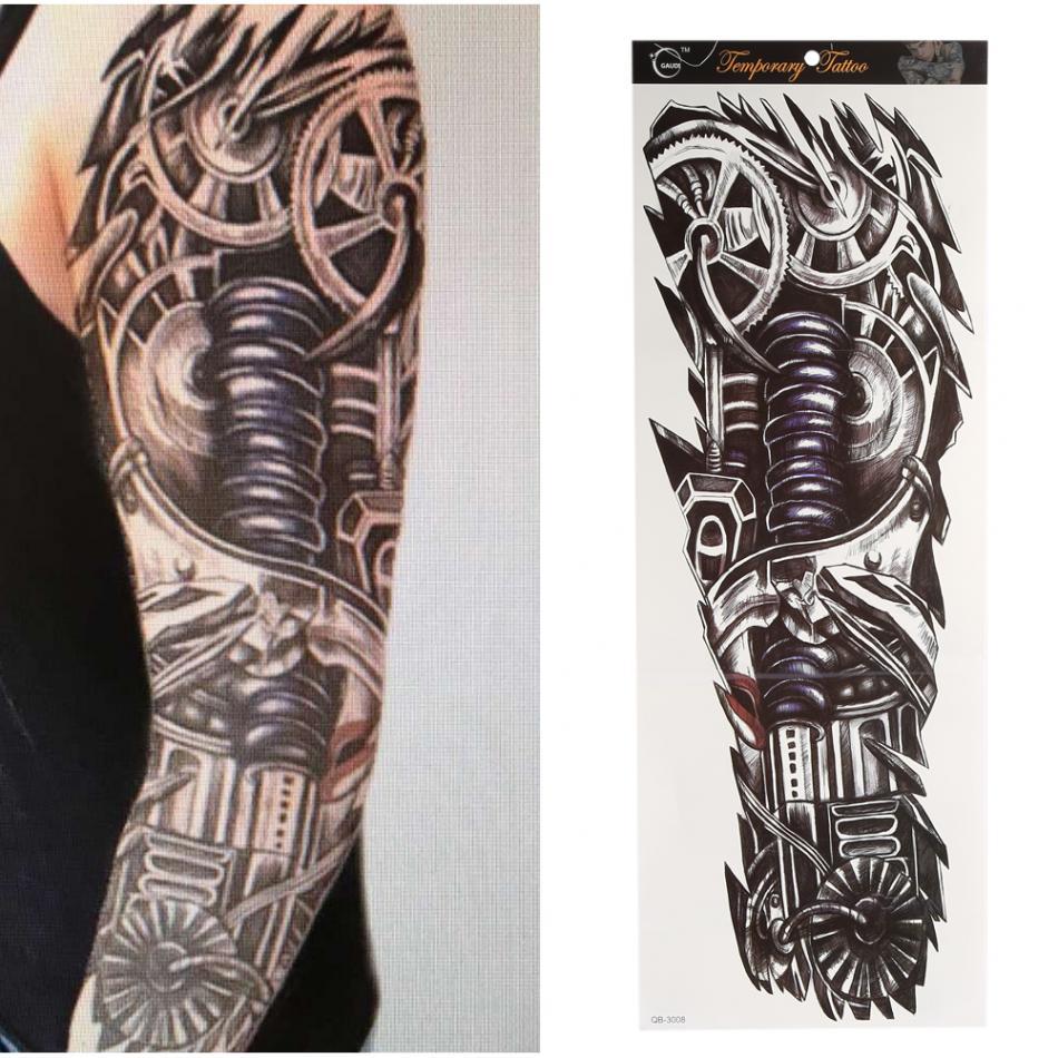 Us 175 10 Off4817 Cm Naklejki Z Tatuażami Wodoodporne Męskie Tatuaże Tymczasowe Naklejka Pełna Ramię Szyi Tatuaż Ozdoba Na Ciało Naklejki
