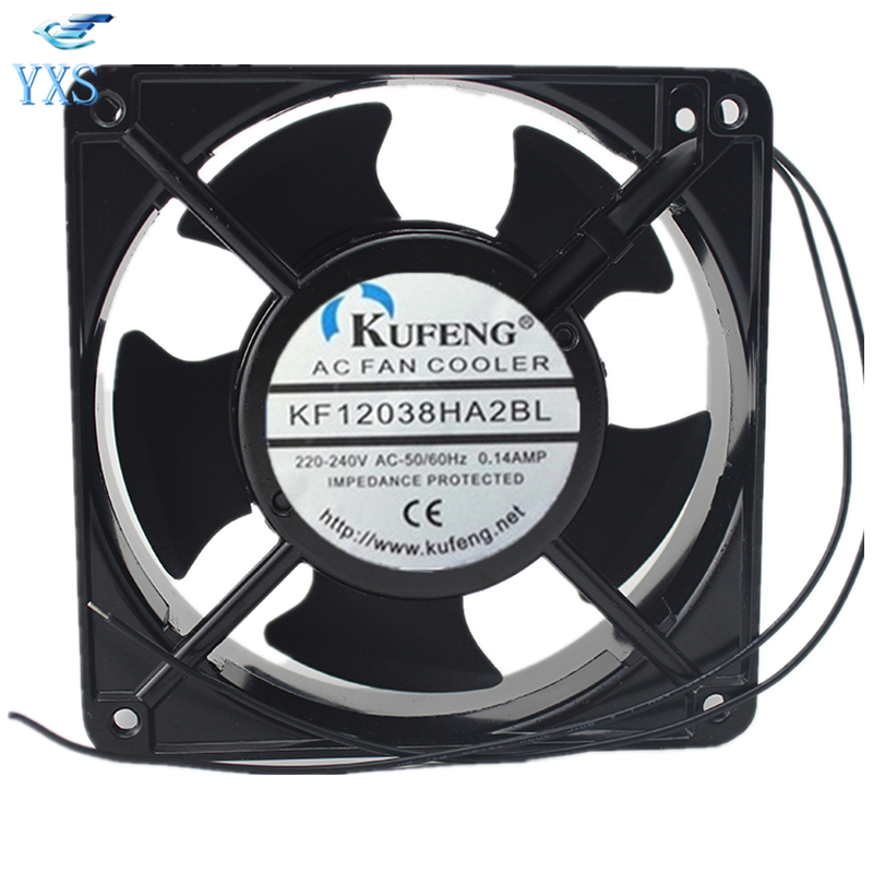 KF12038HA2BL AC 220V/240V 0.14A 12038 12cm 120*120*38mm 50/60HZ Cabinet Cooling Fan sunon free shipping new original taiwan blower fan dp200a p n2123hsl 1238 12cm 12038 120 120 38mm 220v wire type