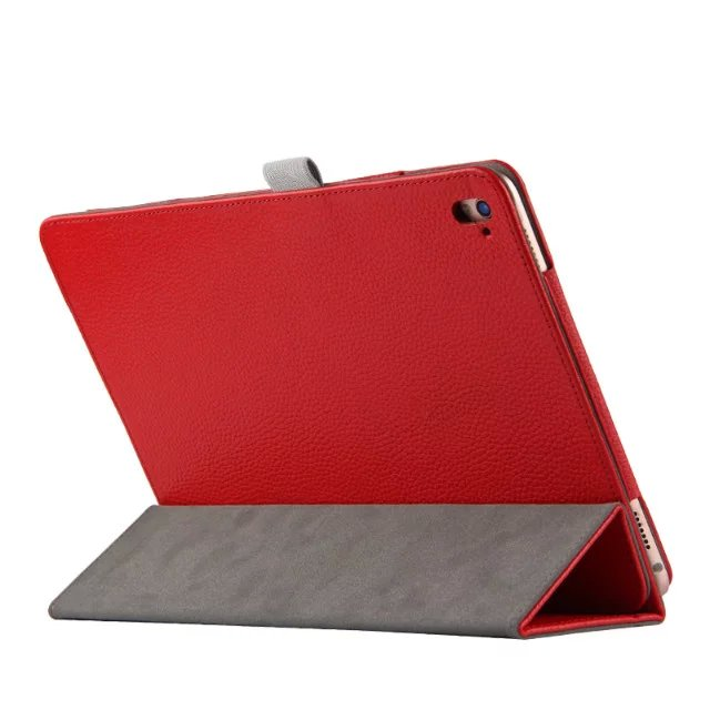 High Quality Genuine Real Leather Mangetic Smart Sleep Stand Funda Capa Cover Case For Apple iPad Pro 9.7 inch Tablet +Film +Pen