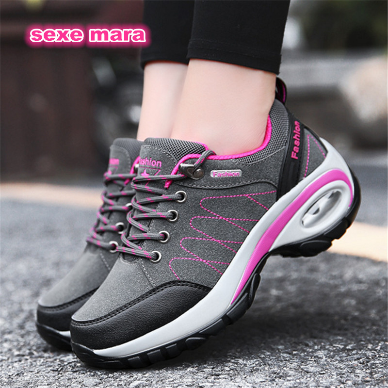 Shoes Woman Sneakers Outdoor Winter Sport Shoes air cushion Running shoes for women non-slip Jogging Walking Increased Non-slip