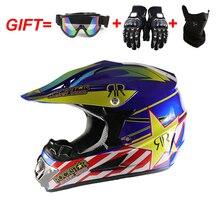 Motorcycle Helmet ATV Road Cycling Motocycle Helmet Adult S/M/L/XL With Mask+Goggles+Glove велошлем kellys mark детский цвет розовый с белым s m helmet mark pink s m 51 54cm