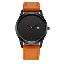 2018 Fashion Large Dial Military Quartz Men Watch Leather Sport watches Complete Calendar Clock Wristwatch Relogio Masculino T49 цена и фото
